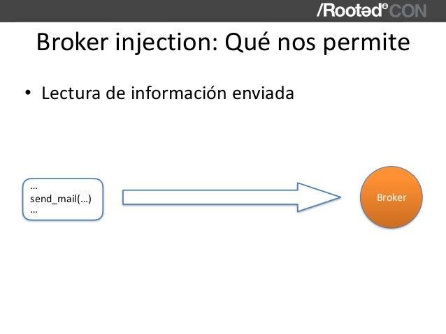 Brokerinjection:Quénospermite • Lecturadeinformaciónenviada send_mail(…) … … Broker