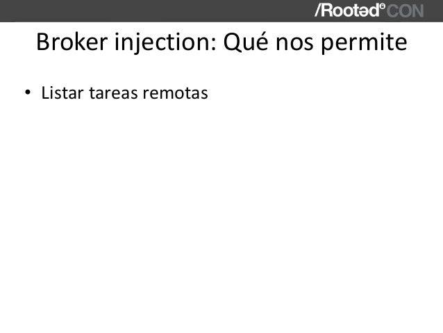 Brokerinjection:Quénospermite • Listartareasremotas