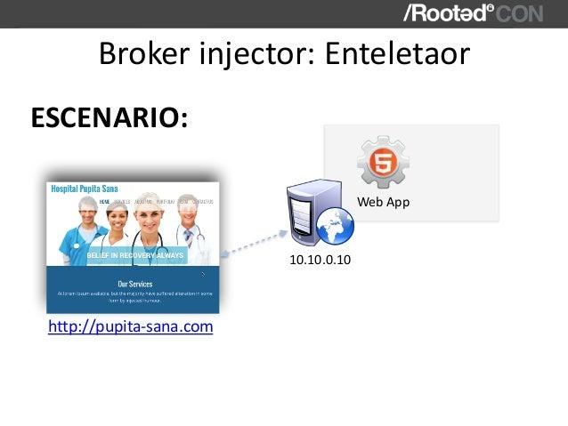 Brokerinjector:Enteletaor ESCENARIO: http://pupita-sana.com WebApp 10.10.0.10