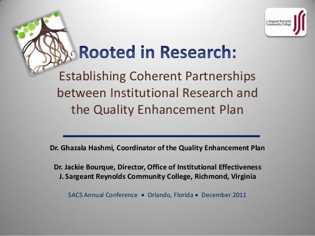 Rooted in Research: Establishing Coherent Partnerships between Instit…