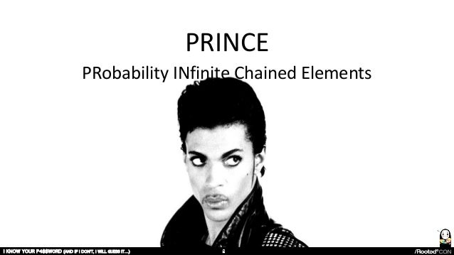 PRINCE PRobability INfinite Chained Elements I KNOW YOUR P4$$W0RD (AND IF I DON'T, I WILL GUESS IT…)