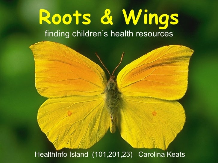 Roots & Wings finding children's health resources HealthInfo Island   (101,201,23)  Carolina Keats