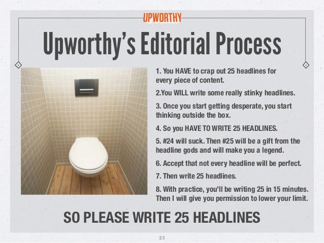 Upworthy's editorial process