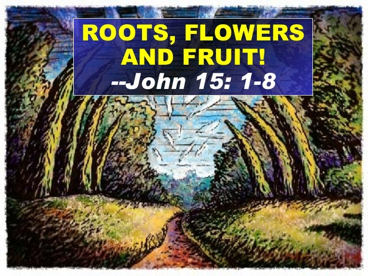 ROOTS, FLOWERS AND FRUIT! --John 15: 1-8