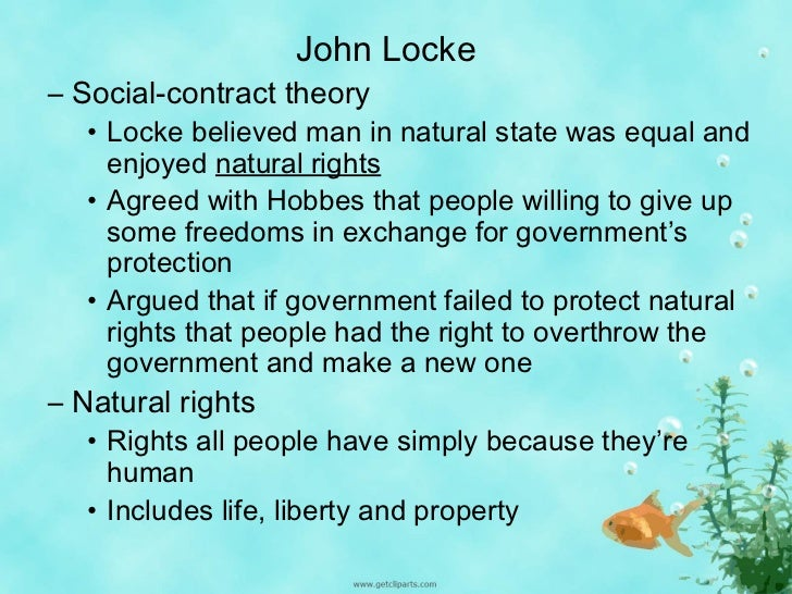 john lockes social contract theory Locke and hobbes compared and contrasted  locke and hobbes were both  social contract theorists, and both natural law theorists (natural law in   hobbes's theory has far more in common with fascism, than it does with locke's  theory.