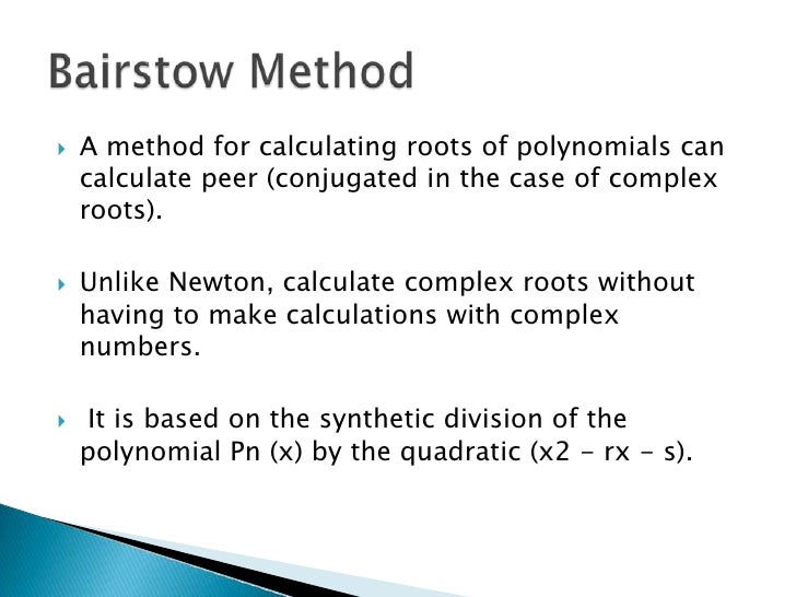how to find complex roots of a polynomial