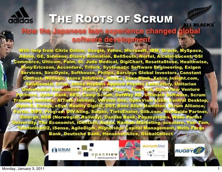 Roots of scrum 2011_Jeff Sutherland氏