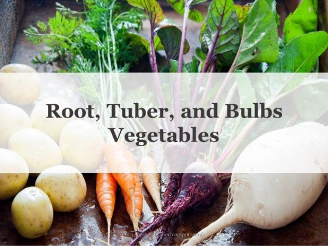 Root, Tuber, and Bulbs Vegetables https://chefqtrainer.blogspot.com/
