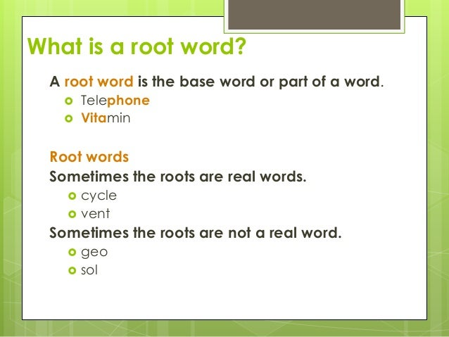 what is in a word