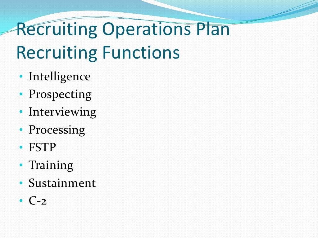 role of recruiter in recruitment process
