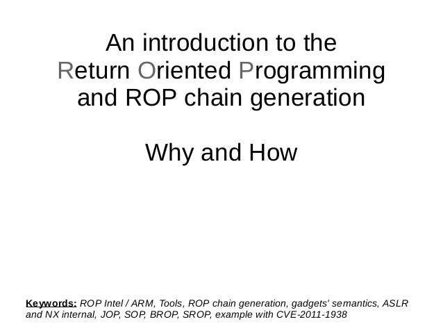 Return Oriented Programming - ROP