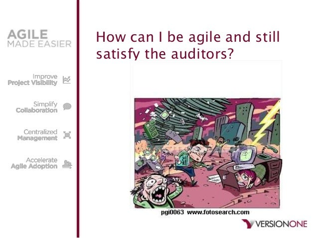 How can I be agile and stillsatisfy the auditors?