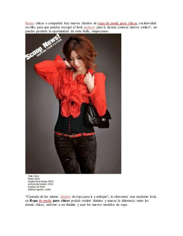 93d0e81b7 Ropa de moda para chicas