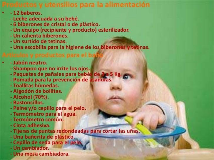 Ropa y accesorios para bebes for Lista utensilios para bano