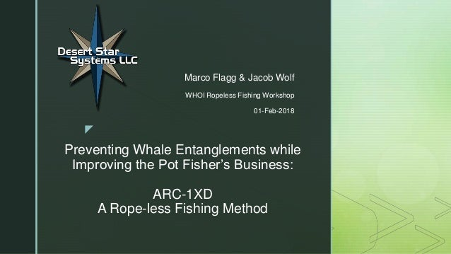 z Preventing Whale Entanglements while Improving the Pot Fisher's Business: ARC-1XD A Rope-less Fishing Method Marco Flagg...