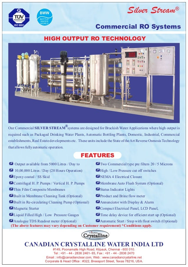 ®Silver Stream Commercial RO Systems + Output available from 5000 Litres / Day to + 10,00,000 Litres / Day (20 Hours Opera...