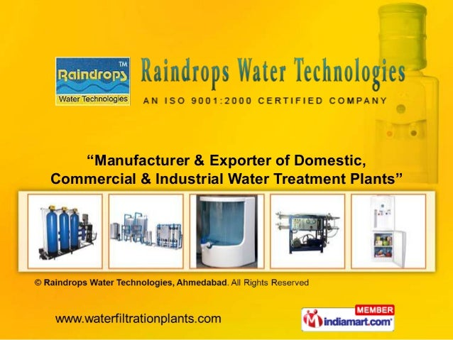 """Manufacturer & Exporter of Domestic,Commercial & Industrial Water Treatment Plants"""