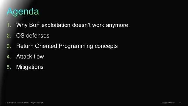 ROP 'n' ROLL, a peak into modern exploits Slide 2