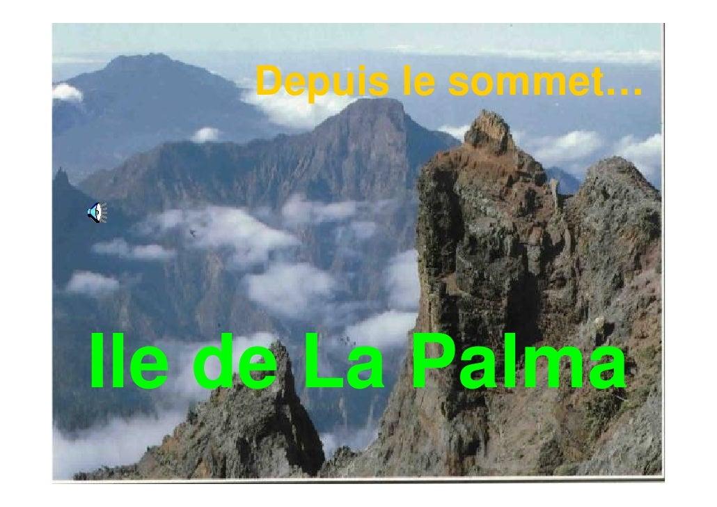 Depuis le sommet…Ile de La Palma