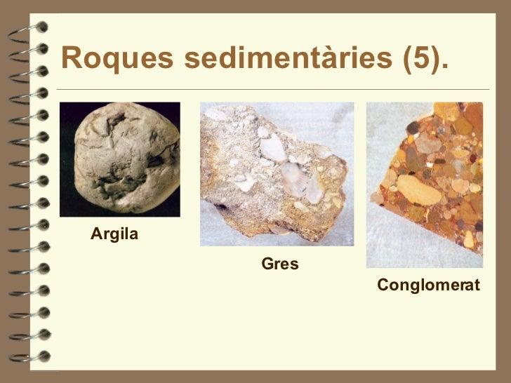 Roques sedimentàries (5). Argila Gres Conglomerat
