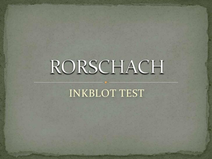 INKBLOT TEST