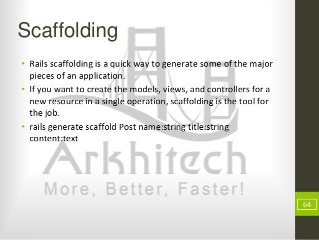 Rapid application development using ruby on rails 64 scaffolding rails ccuart Gallery