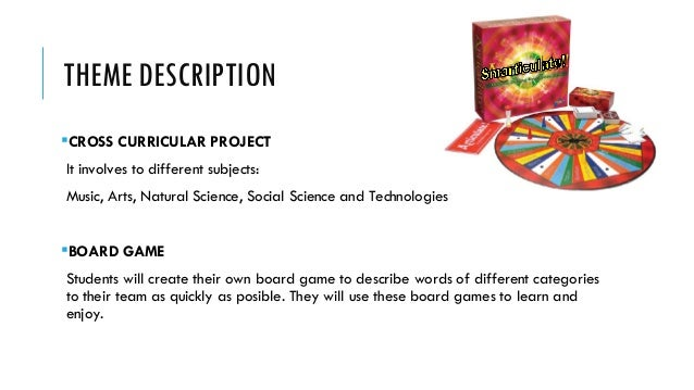 THEME DESCRIPTION CROSS CURRICULAR PROJECT It involves to different subjects: Music, Arts, Natural Science, Social Scienc...
