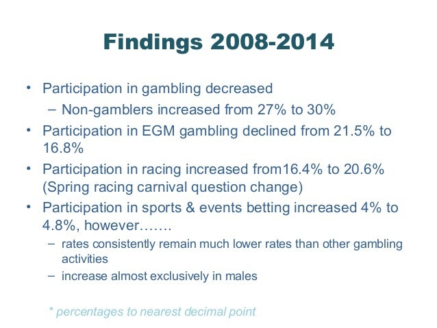 Victorian gambling study
