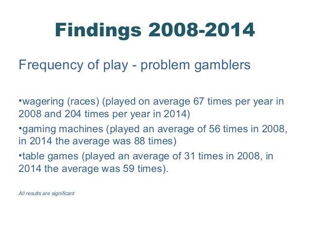 Problem gambling prevalence study avery cardoza s casino