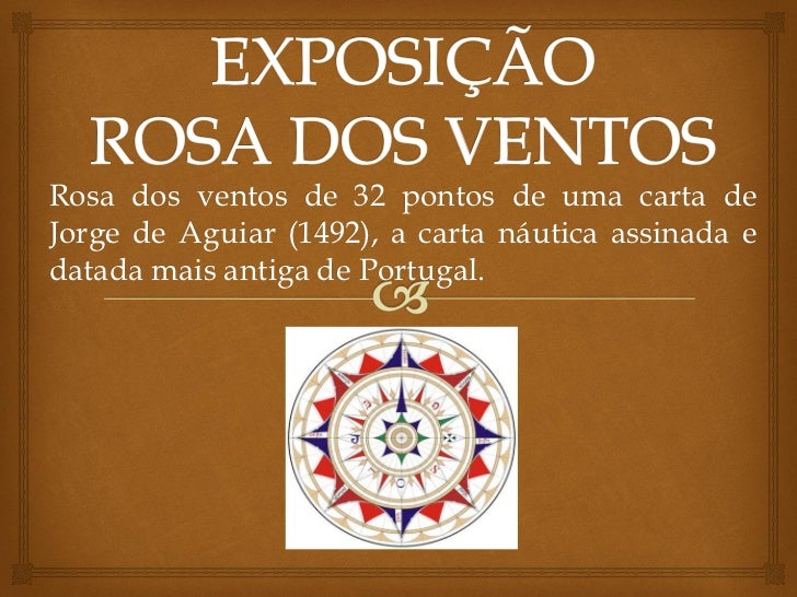 Rosa dos ventos de 32 pontos de uma carta deJorge de Aguiar (1492), a carta náutica assinada edatada mais antiga de Portug...