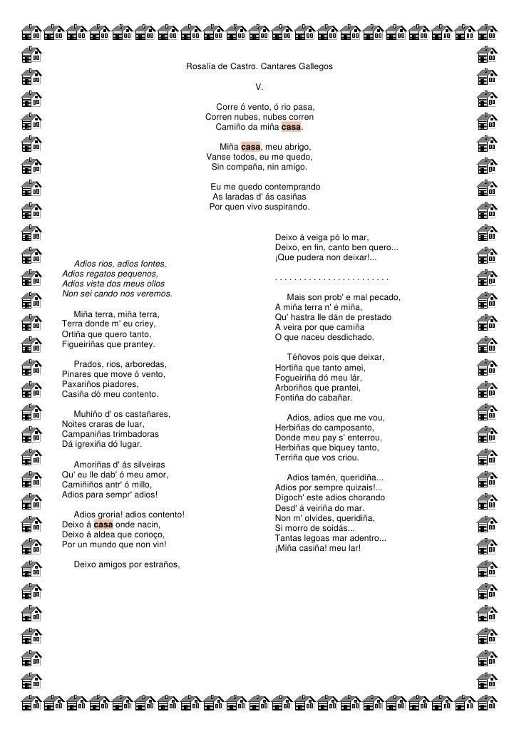 Rosalía de Castro. Cantares Gallegos                                                     V.                               ...