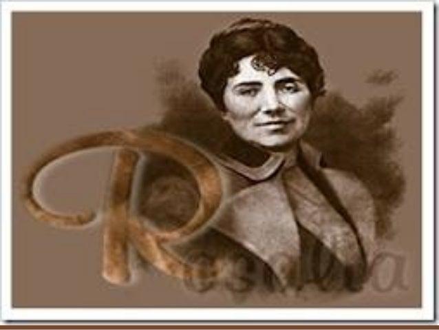"""Rosalía de Castro naceu en Santiago de Compostela en 1837 foi unha muller escritora que empregaba unha lingua """"desprestixi..."""