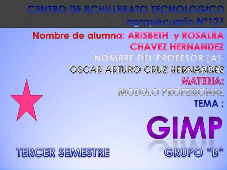 CENTRO DE BCHILLERATO TECNOLOGICO agropecuario Nº131<br />Nombre de alumna: ARISBETH  y ROSALBA CHAVEZ HERNANDEZ<br />NOMB...