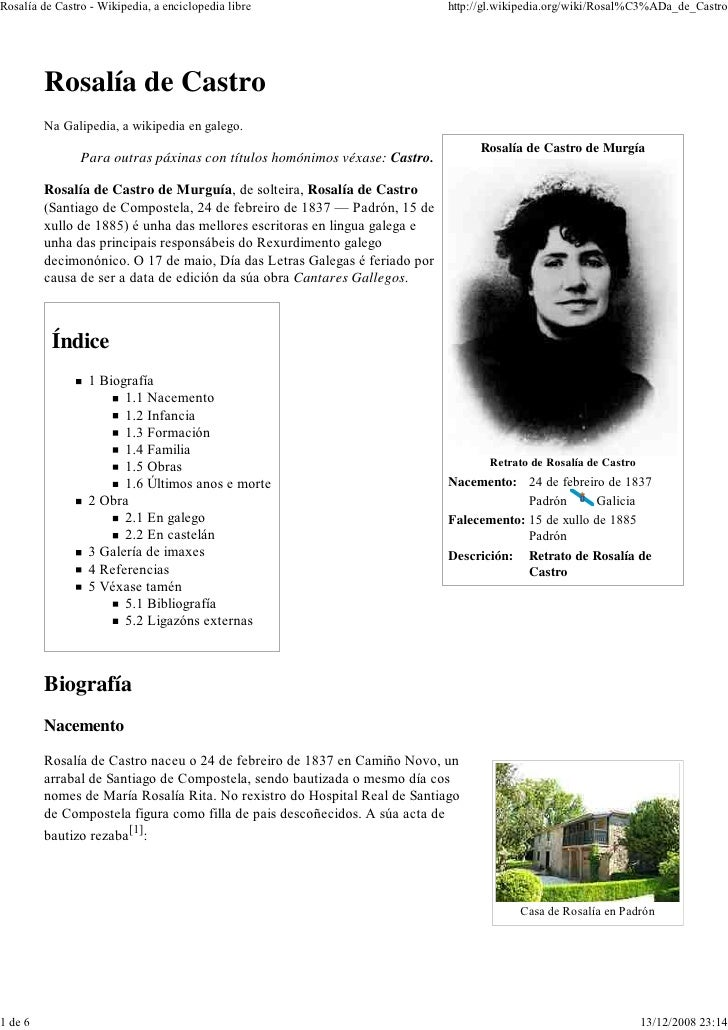 Rosalía de Castro - Wikipedia, a enciclopedia libre                         http://gl.wikipedia.org/wiki/Rosal%C3%ADa_de_C...
