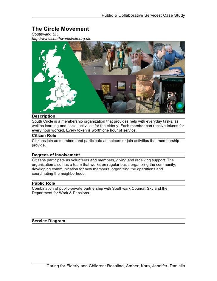 Public & Collaborative Services: Case StudyThe Circle MovementSouthwark, UKhttp://www.southwarkcircle.org.uk.DescriptionSo...