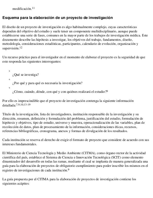 modificación.11Esquema para la elaboración de un proyecto de investigaciónEl diseño de un proyecto de investigación es alg...