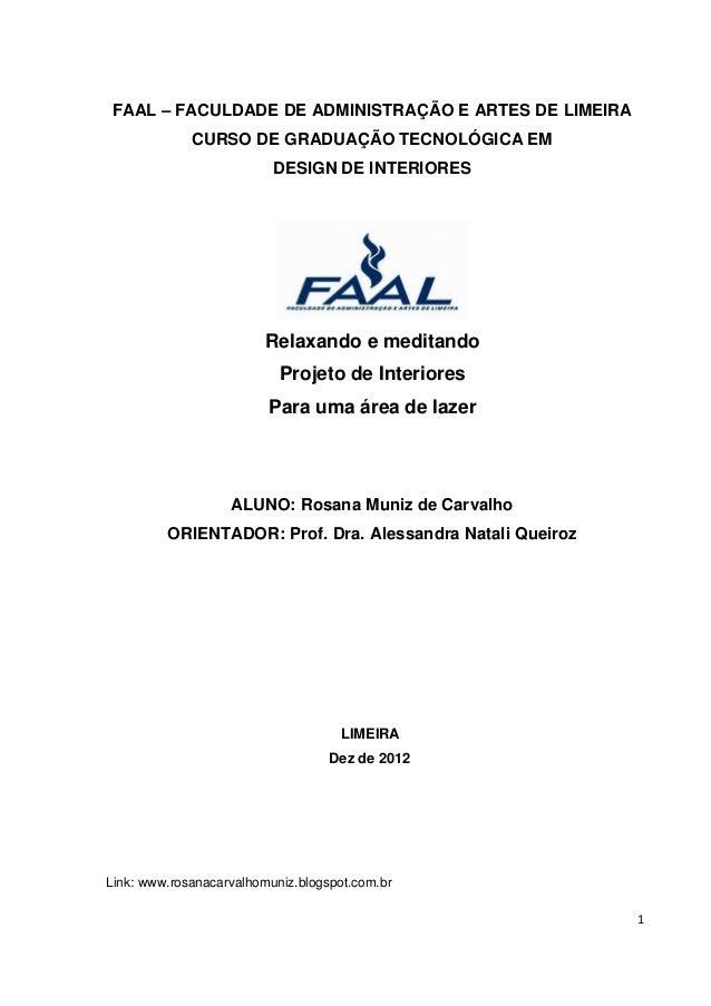 FAAL      FACULDADE DE ADMINISTRAÇÃO E ARTES DE LIMEIRA             CURSO DE GRADUAÇÃO TECNOLÓGICA EM                     ...