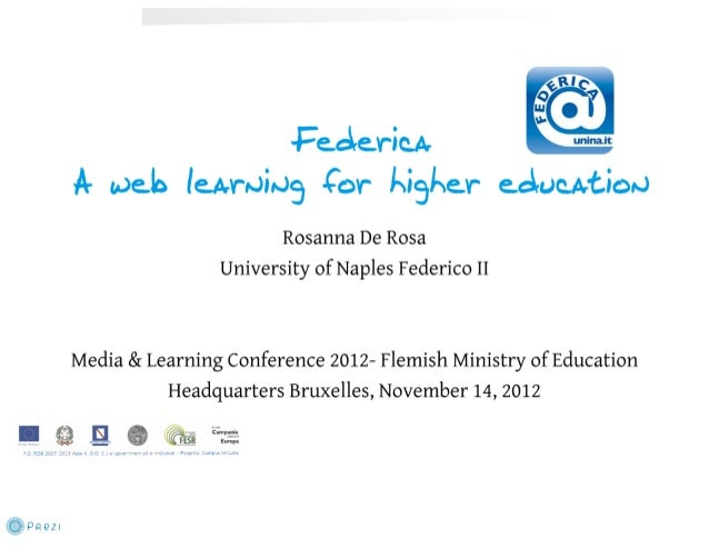 An open education model for teaching and learning: The Federica System (By Rosanna de Rosa)