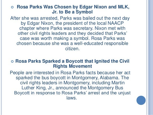 what are interesting facts about rosa parks