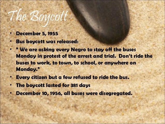 """The Boycott • December 5, 1955 • Bus boycott was released: • """" We are asking every Negro to stay off the buses Monday in p..."""