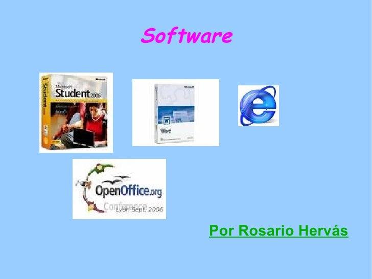 Software Por Rosario Hervás