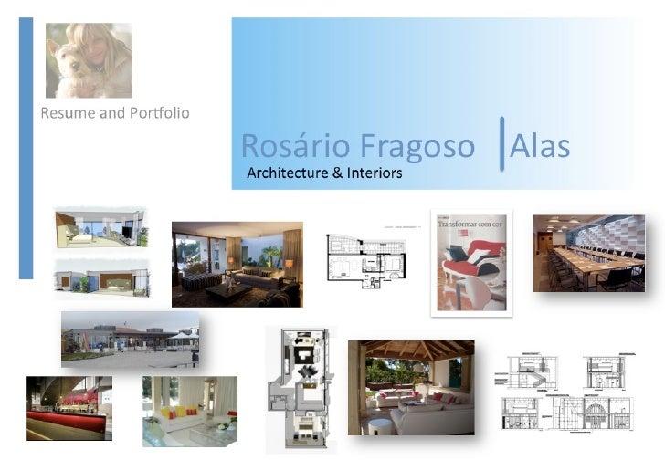 Rosario Alas   Cv And Portfolio