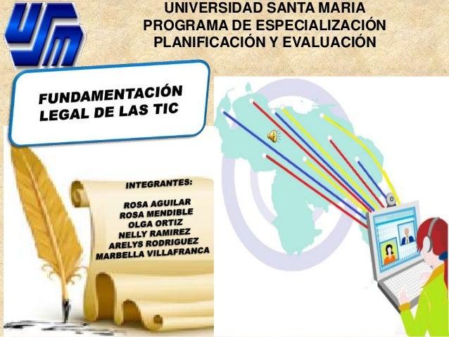 UNIVERSIDAD SANTA MARIA    PROGRAMA DE ESPECIALIZACIÓN     PLANIFICACIÓN Y EVALUACIÓN