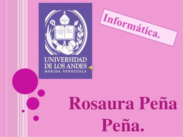 Rosaura Peña Peña.