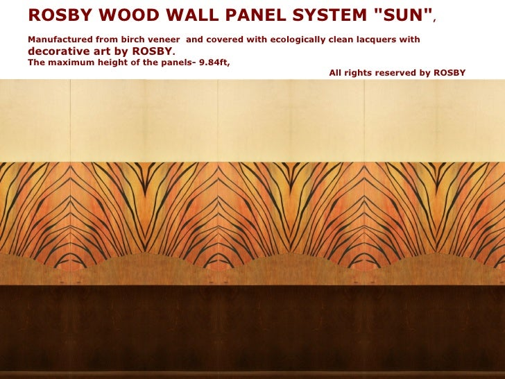ROSBY branded wood wall panel systems.