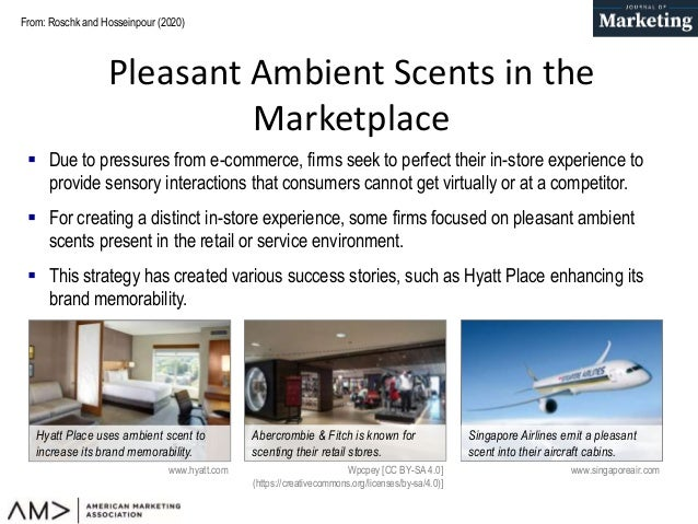 Pleasant Ambient Scents: A Meta-Analysis of Customer Responses and Situational Contingencies Slide 2