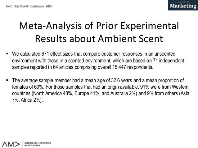 Pleasant Ambient Scents: A Meta-Analysis of Customer Responses and Situational Contingencies Slide 3