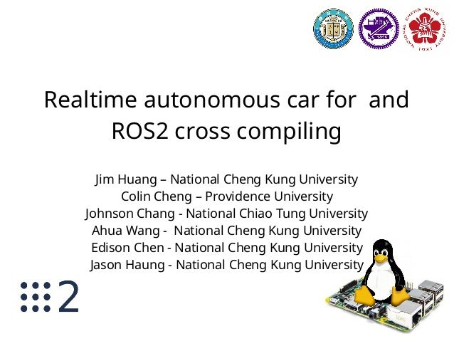 Realtime autonomous car for studying and ROS2 cross compiling