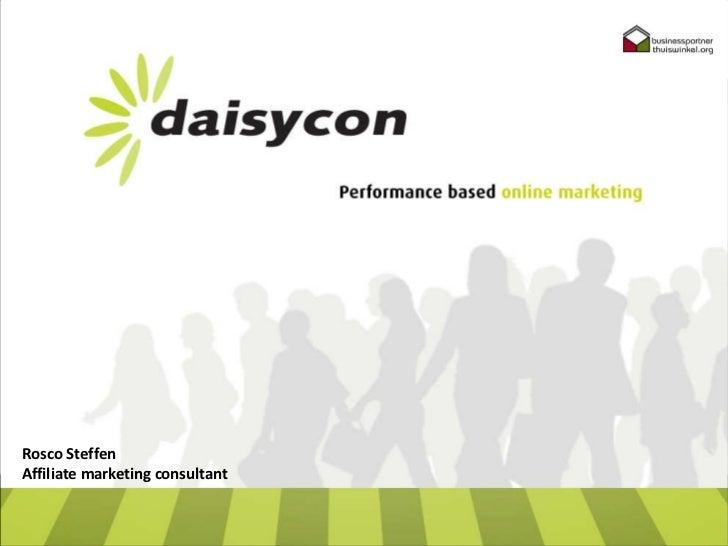 Rosco Steffen Affiliate marketing consultant