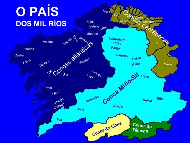 OO P PAAÍÍSS  DOS DOS MIL RÍOS  RÍOS  Concas atlánticas  Concas cantábricas  Lavandeira  Ouro  Conca Miño-Sil  Conca do Li...
